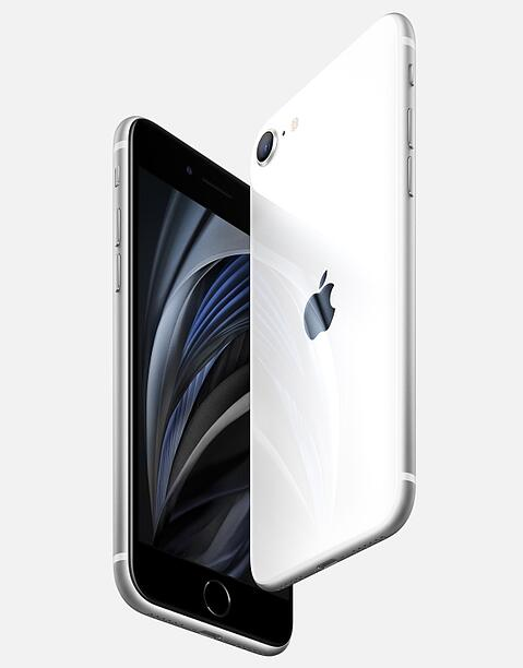 Apple iPhone SE 2020 white front collage