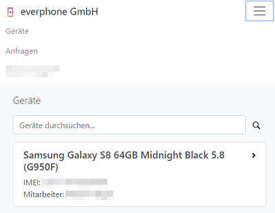 Device-Auswahl everphone